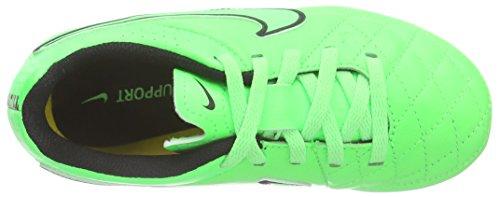 Nike Jr Tiempo Genio Leather Fg, Scarpe sportive, Ragazzo Green Strike/Grn Strk-Blk-Blk