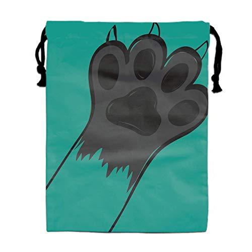 Einst Cute Cat Cartoon Polyester Fiber Turnbeutel Turnbeutel Bag for Teens (Halloween Cute Teen Ideen)