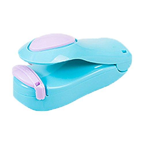 Portable Mini Haushalt W?rme Siegel Maschine Lebensmittel Tasche Kunststoff Tasche Hand Druck Dichtungsmaschine - blau
