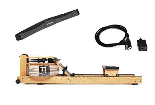 WaterRower Rudergerät Esche S4 mit Cardio-Set, 100s4