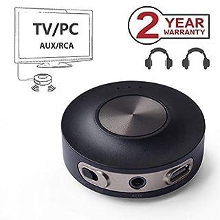 Avantree Priva III aptX Low Latency Bluetooth 4.2 Audio Transmitter Sender Adapter für TV PC (3.5mm Aux Klinke, RCA, USB, NOT Optical) Dual Link 30M Erhöhte Reichweite, Wireless Audio Adapter