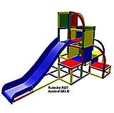 move and stic 6349 großer Spielturm / Kletterturm mit Rutsche für Kleinkinder