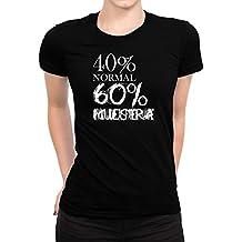 Idakoos 40 por Ciento Normal 60 por Ciento Aficionada Al Papel Mache - Camiseta Mujer