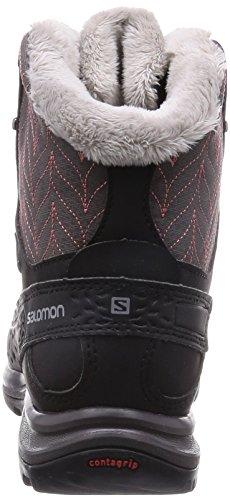 Salomon Kaïna Mid GTX, Damen Trekking- & Wanderstiefel Schwarz (Autobahn/Black/Melon   Bloom)