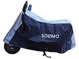 Amazon Brand - Solimo Honda Activa Water Resistant Bike Cover (Dark Blue & Silver)