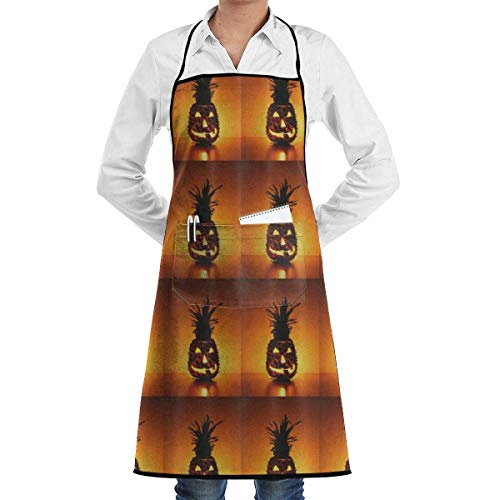 nny Halloween Vampire Pineapple Apron Kitchen Cooking Commercial Restaurant Apron for Women and Men-Perfect for Gifts ()