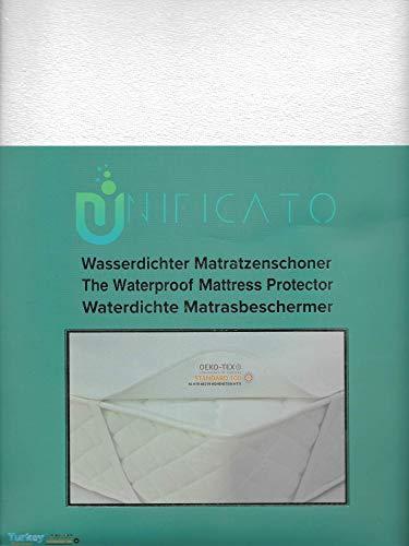 UNIFICATO Wasserdichter Matratzenschoner - Baumwolle Wirkfrottier Wasserdicht - 200x200cm - Baumwolle Matratzenauflage