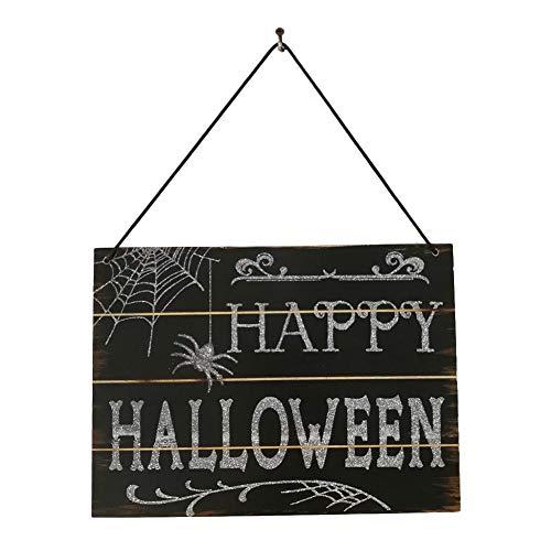 Halloween Holz Hängen Bord Kürbis Dekoration Happy Halloween Holz Herbst Hängen Plaque Board Wand Zeichen Tür Home DecorationSchool Home Ornamentik