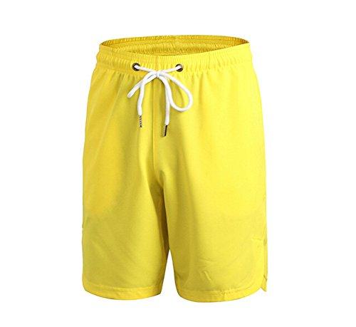 Butterme Männer Lässige coole kurze lose kurze Hose Hosen Strand Hosen Kurze Sport Gelb