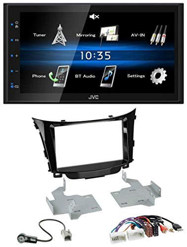 caraudio24 JVC KW-M25BT USB 2DIN Bluetooth MP3 AUX Autoradio für Hyundai i30 ab 2012 AUX USB