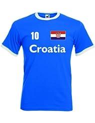 Croatia / Kroatien Herren T-Shirt Retro Trikot Nr.10