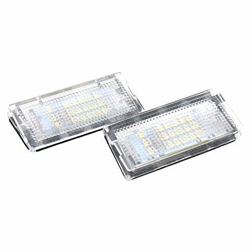 Zantec 2 pcs 12 V 18leds licence plaque d'immatriculation Lampes lumière pour BMW E46 4d (98-05)