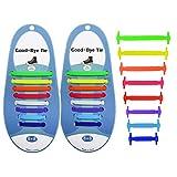 MXECO Lazy People No Tie Cordón elástico de Silicona con Hebilla Bloqueada Niños Adultos Cordones para Zapatos de Senderismo Equipamiento Esencial