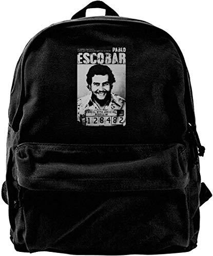 Pablo Escobar Travel Backpack for School Water Resistant Bookbag