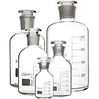 Botella de reactivo, Laboratorio químico Precisión Botella de vidrio Botella fina de boca fina con