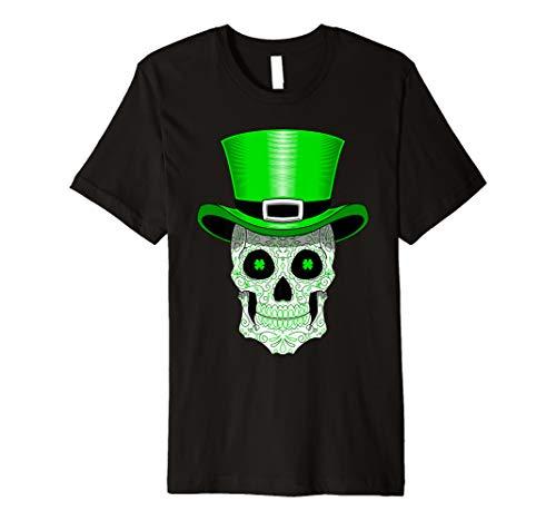 St Patrick's Tag Zuckerschäd Shirt Hut und Grüne ()