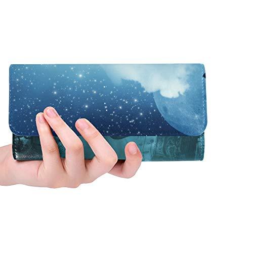 Einzigartige benutzerdefinierte abstrakte Halloween S Ihre Design Frauen Trifold Brieftasche Lange Geldbörse Kreditkarteninhaber Fall Handtasche