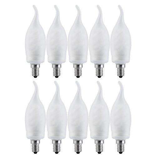 Kohlefadenlampe 8 x Paulmann Rustika Windstoß Kerze 40W E14 Vielfachwendel ähnl