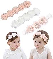 IYOU Bebe's Diadema con Grosgrain bandas de pelo de bebé diademas de flores de cristal Para la Fotografía