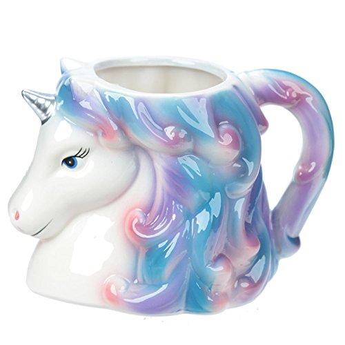 Puckator-Unicorn-Head-Mug-Ceramic-White-Blue-Pink-165-x-105-x-115-cm