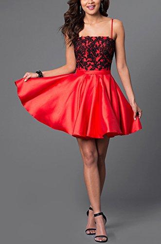 Bridal_Mall - Robe - Trapèze - Sans Manche - Femme rouge Rot 34 Rouge