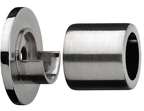 Tilldekor Wandlager für Gardinenstangen, edelstahl-optik,Ø 20 mm, inkl. Montagematerial