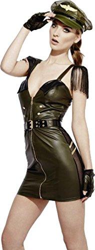 Militärischen Kostüm Sexy - Damen Fancy Party Kleid Sexy Armee Frauen Fever Rollenspiele Military Chief Kostüm, Grün