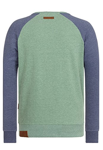 Naketano Male Sweatshirt The Jordan Rules Leaf Green-Blue Grey Melange