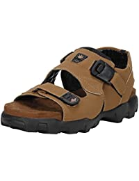 Emosis Stylish Decent Tan Brown in Color Corporate Office Ethnic Casual Leather Sandals for Men