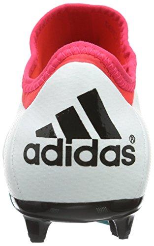 Adidas X 15.1 Fg / Ag, Zapatos De Fútbol Blanco Para Mujer (ftwr Blanco / Shock Green / Core Black)