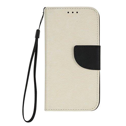 Galaxy S7 Edge Hülle, BONROY® Retro contrast color leather case für Samsung Galaxy S7 Edge Ledertasche Schutzhülle Case PU Leder Wallet Tasche Brieftasche PU Lederhülle Flip Hülle im Bookstyle mit Kartenfach für Samsung Galaxy S7 Edge