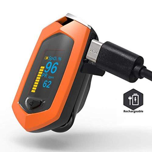 DZW Finger Clip Pulse Oximeter, Blood Oxygen Saturation Monitor Built-in Lithium Battery wiederaufladbare Lanyard und Carry Case