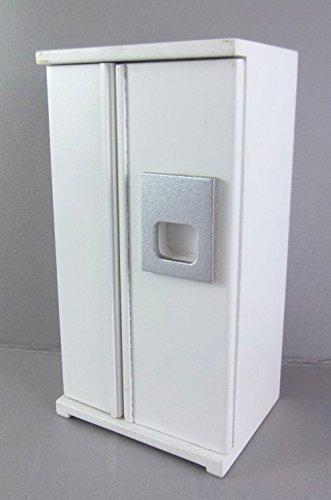 Preisvergleich Produktbild Puppenhaus Miniatur 1:12 Maßstab Küchenmöbel weiß amerikanischer Kühlschrank mit Gefrierfach