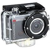 Braun Photo Technik Champion - Cámara deportiva (CMOS, Litio, 1920 x 1080 Pixeles, H.264, 1080p, Micro-USB)