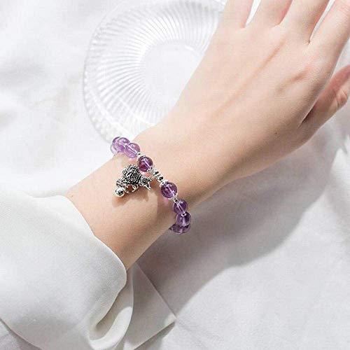 Ibuprofen Armreifen Armbänder S925 Silber Armband Weibliche Mode Süße Stil Thai Silber Kürbis Amethyst Armband Temperament