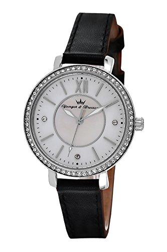 YONGER&BRESSON Femme Date Standard Quartz Montre avec Bracelet en Cuir DCC 049S/BA