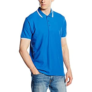 Fruit of the Loom SS034M - Polo Uomo, Blue (Royal Blue/White), Large