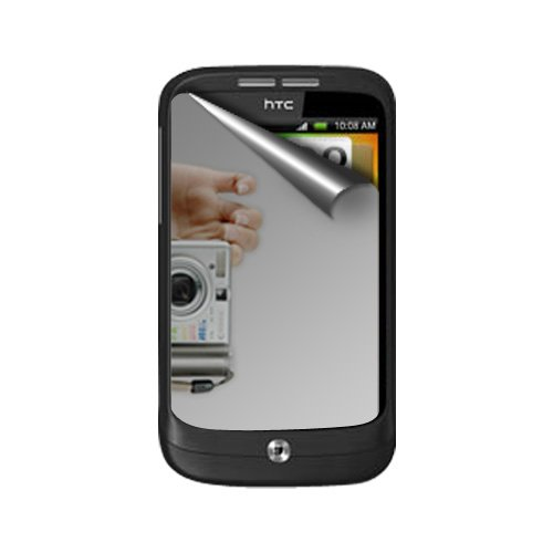 Amzer 89103 Mirror Screen Protector with Cleaning Cloth for HTC Wildfire  available at amazon for Rs.186