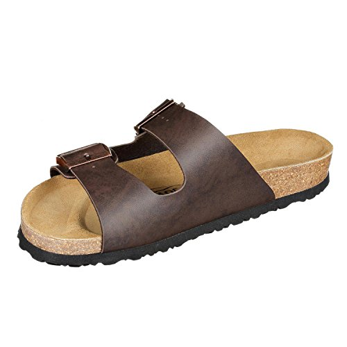 JOE n JOYCE London Synsoft Unisex Sandalen Pantoletten Normal Brown