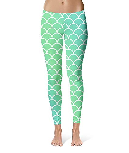 HX fashion Bleistifthose Damen Mode Stretch Mermaid Tail Leggings Classic Elastische Taille Workout Fitness Trousers Jogginghosen Kleidung (Color : Colour, Size : 3XL) (Tail Leggings Mermaid)
