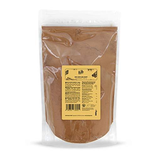 KoRo - Bio Ceylon Zimt gemahlen 500 g - Gewürz in Top-Qualität, mit sehr geringem Cumarin-Gehalt