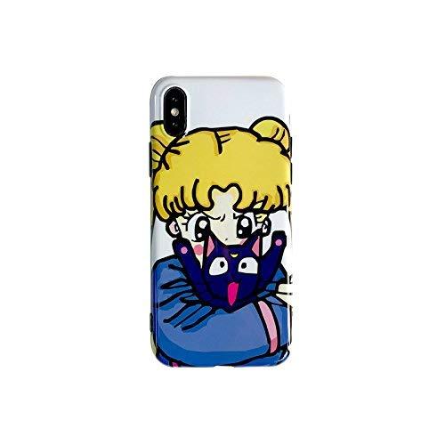 Soft TPU Case für iPhone X Tigger Winnie The Pooh Disney Cartoon Orange Tiger Strass Glänzend Bling Kristall Mädchen Kinder Teens Rutschfest Cute Lovely Geschenk Slim Thin, Sailor Moon ()
