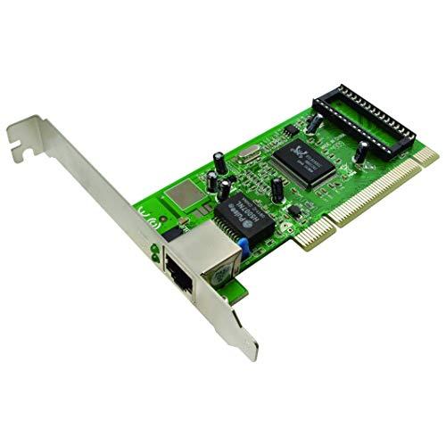 LogiLink Gigabit 10/100/1000 Mbit/S PCI Netzwerkkarte (Realtek 8169SC) zum Einbau in den PCI Slot des PCs, Windows 98SE/ME/2000/2003/2008/XP/Vista/7/8/1/10, Linux, Novell, Mac OS 10.4 + Höher (Netzwerkkarte 8 Windows)