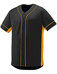 Augusta Sportswear Hombre Slugger Jersey - 1660, S, Negro/Dorado