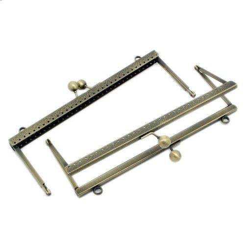 Rockin Perlen (TM) 2Geldbörse Rahmen Metall Tasche Kiss Verschluss kariert Design 20,3x 7,6cm 2Pack (Geldbörse Kiss Lock)