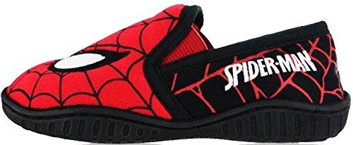 Jungen Mädchen Schuhe Minion Kinder Turnschuhe Star Wars Disney Spiderman Hausschuh Rot/Schwarz - SMMORICE