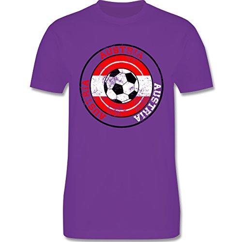 EM 2016 - Frankreich - Austria Kreis & Fußball Vintage - Herren Premium T-Shirt Lila