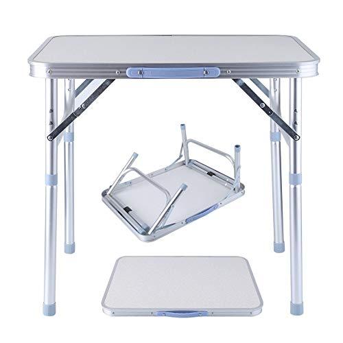 Wulihong-tavolo campeggio tavolo da picnic portatile pieghevole tavolo da pranzo da esterno in alluminio regolabile in altezza con manico