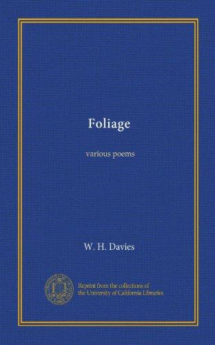 Foliage: various poems