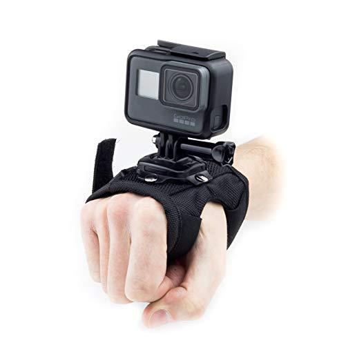 Soporte de soporte de montaje manual Digicharge genuino para cámaras de acción. Fácil de instalar y cómodo de usar, correa de velcro totalmente ajustable para adaptarse a todos los tamaños de mano. Fabricación de alta calidad, peso ligero, puede mont...